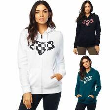 NEW Fox Racing Womens Check Head Zip Fleece Hoody Jumper Sweatshirt Jacket XS-XL