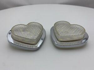 JDM Heart LED Side Marker Indicators Pair Clear