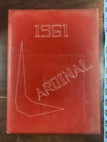 The Cardinal 1961 Vintage 1960s Yearbook Warrensburg IL High School