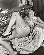 Original Vintage 50s-60s Nude RP- Well Endowed Blond- Panties- Hair Band- Heels