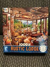 RUSTIC LODGE - FISHING MAP & GUIDE - 1000 PIECE JIGSAW PUZZLE -3161-2