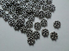 200 x Tibetan Silver Plated Spacer Beads - 7.5mm - Snowflake