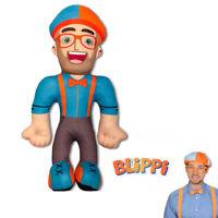 11'' Blippi Plush Figure Toy Soft Stuffed Doll for Kids Gift Hat Cap Cartoon