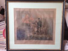 Fine Aquatint Original Hand Colour S J E Jones Gamekeepers Returning