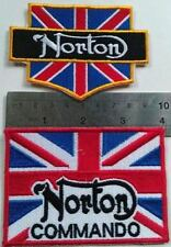 2 x Cafe Racer Patch Ton Up 59 Club NORTON COMMANDO Vintage British PART SALE