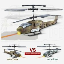RC Micro Nano APACHE MILITARY HELICOPTERS Laser Battle Set -2 HELICOPTERS +RADIO