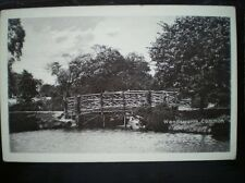 POSTCARD RP LONDON WANDSWORTH COMMON BRIDGE BY LAKE
