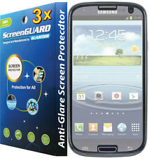 3x Anti-Galre LCD Screen Protector Straight Talk Samsung Galaxy S3 S III S968C