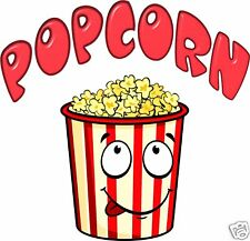 """Popcorn Concession Decal 14"""" Vendor Fast Food Truck Restaurant Cart Stand Sticke"""