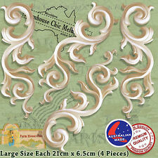 Furniture Appliques 4 x Large Shabby Chic French Furniture Appliques Scrolls