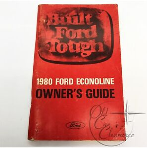 1980 Ford Econoline Glove Box Owners Manual (FPS36510880B)