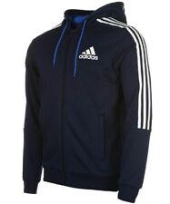 Adidas Mens 3 Stripe Essentials Zip Hoodie Fleece Hoodie Full Zip Hoody XXXL