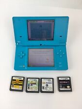 Nintendo DSi Light Blue w/ Stylus & 4 Games (No Charger)