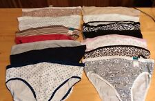 Women's PLUS Size 9 2X Cotton NEW/NWT LOT of 10 Panties Patterned/Solid Assorted
