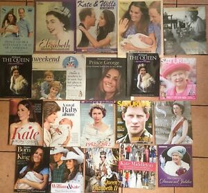JOB LOT x20 VINTAGE MAGAZINES UK ROYALTY QUEEN ROYAL FAMILY KATE WILLIAM HARRY
