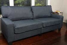 Home Life Upholstered Sofa Linen 3 Person Couch  Contemporary Pocket Coil 78""