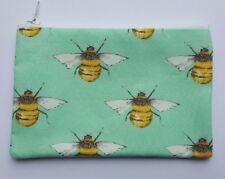 Bumble Bee Fabric Handmade Zippy Coin Purse Storage Pouch