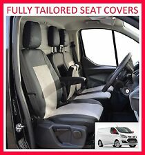 FORD TRANSIT CUSTOM FULLY TAILORED SEAT COVERS -  Leatherette + Alcantara