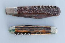 2 alte Jagd Taschenmesser - Jäger Messer