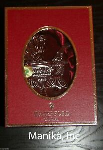 Waterford Crystal 2013 Baby's First Christmas Ornament Buggy with Enhancers NEW