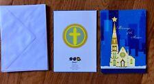 New Lot of 14 Modern Artwork Church Christmas Cards Blue Gold Dtm Brand