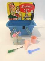 Lido Toy Doll Nursery Layette Nursing Playset 1950s HTF Basket, Baby Bottles