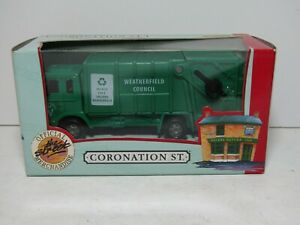 RICHMOND TOYS - CORONATION STREET - REFUSE TRUCK WEATHERFIELD - VG BOXED COND