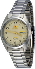 Orient FAB00003C Men's 3 Star Classic Beige Numbers Dial Date Automatic Watch