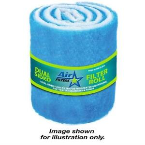 """10 Feet of Blue and White Air Filter Media Roll MERV6 Polyester Media - 25"""" Wide"""