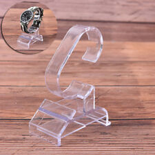 1pc transparent plastic clear jewelry bracelet watch display stand holderSC