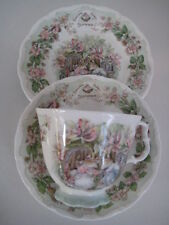 ROYAL DOULTON BRAMBLY HEDGE LARGE FULL SIZE SUMMER TRIO TEA CUP SAUCER AND PLATE