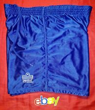 Vintage Admiral Mens Shiney Royal Blue Athletic Soccer Shorts Sz L Great !
