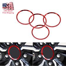 4x Red Aluminium Alloy Wheel Center Hub Ring Trim For 2016 2017 2018 Honda Civic