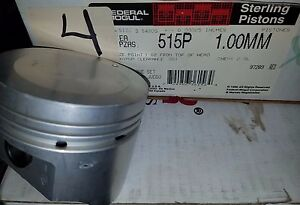 Federal-Mogul-Sterling-Pistons 515P 1.00MM Set of 4 Fits 2.0L L4 Engine