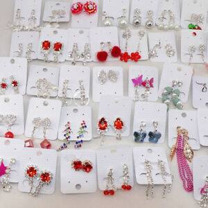 Wholesale Lot Of 30 Pairs Mix Clip Earrings Fashion Jewelry Earrings For Women