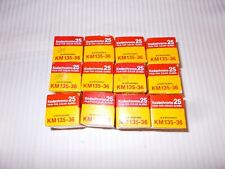 Kodachrome 25 Color Slide Film  KM 135-36  Exposure ~ Sealed 1984/85 - LOT OF 12