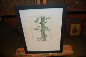 "Original Charles Blackman lithograph ""Jack's Beanstalk"" - Cert. of Authenticity."