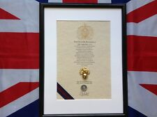 Oath Of Allegiance Grenadier Guards (framed with Cap Badge)