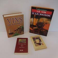 4 LIVRES VIN MAISON VINS DE FRANCE DICTIONNAIRE VINS ALCCOLS HISTOIRE DU VIN