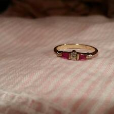 Gold and Ruby and diamond ring