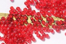 2/0 Old Time Vintage Venetian Trans Dark Ruby Red Glass Seed Beads/1oz