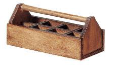 CASSETTA degli attrezzi in legno/vettore, Casa delle Bambole Miniature, strumenti in miniatura accessorio