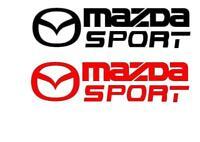 2 X MAZDA SPORT VINYL CAR DECAL, STICKER  234mm X 60mm