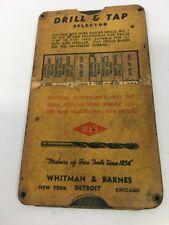 Vintage Drill & Tap Selector Whitman & Barnes