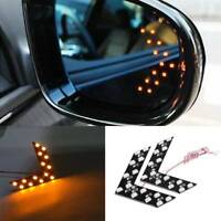 2x Yellow Turn Signal Light Car Side Rear View Mirror 14SMD LED Lamp Accessories
