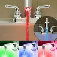 Shower Glow Kitchen/bathroom Led Light Temperature Sensor Tap Water Faucet