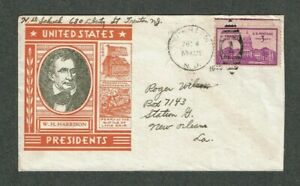 US Postal History W. H. Harrison cachet with Scott #896