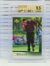 2001 Upper Deck Golf Tiger Woods Rookie Card RC #1 BGS 9.5 GEM MINT S12