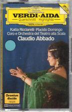 "CLAUDIO ABBADO ""VERDI - AIDA "" MUSICASSETTA SIGILLATA RICCIARELLI-DOMINGO- SCALA"