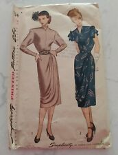 Vintage Women Clothing Sewing Patterns: Simplicity & Misc patterns from 1940's